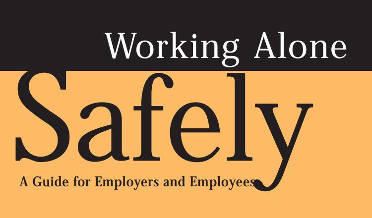 Working Alone Legislation